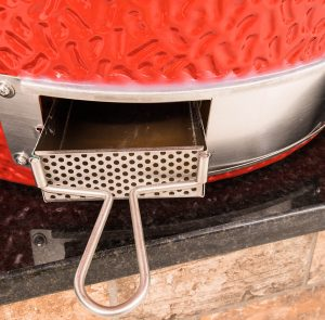 Kamado Joe BBQ Grill Patented slide-out ash drawer