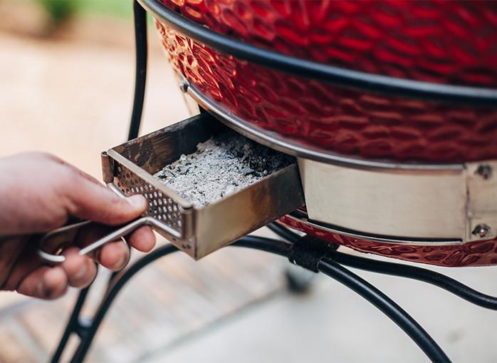 Kamado Joe patented slide-out ash drawer
