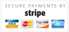 Secure online payments by Stripe
